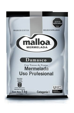 Mermelada Damasco Malloa 1KG -